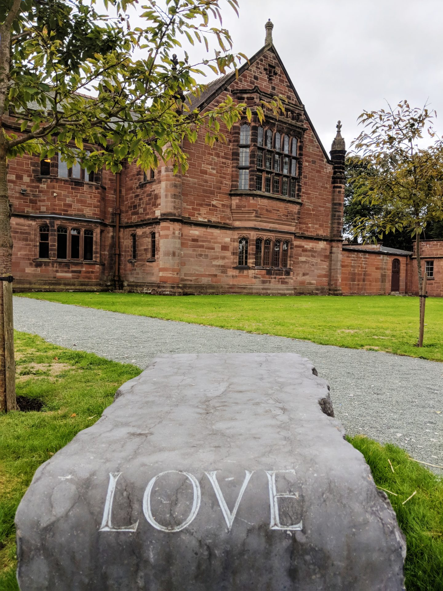 garden at Gladstone's Library