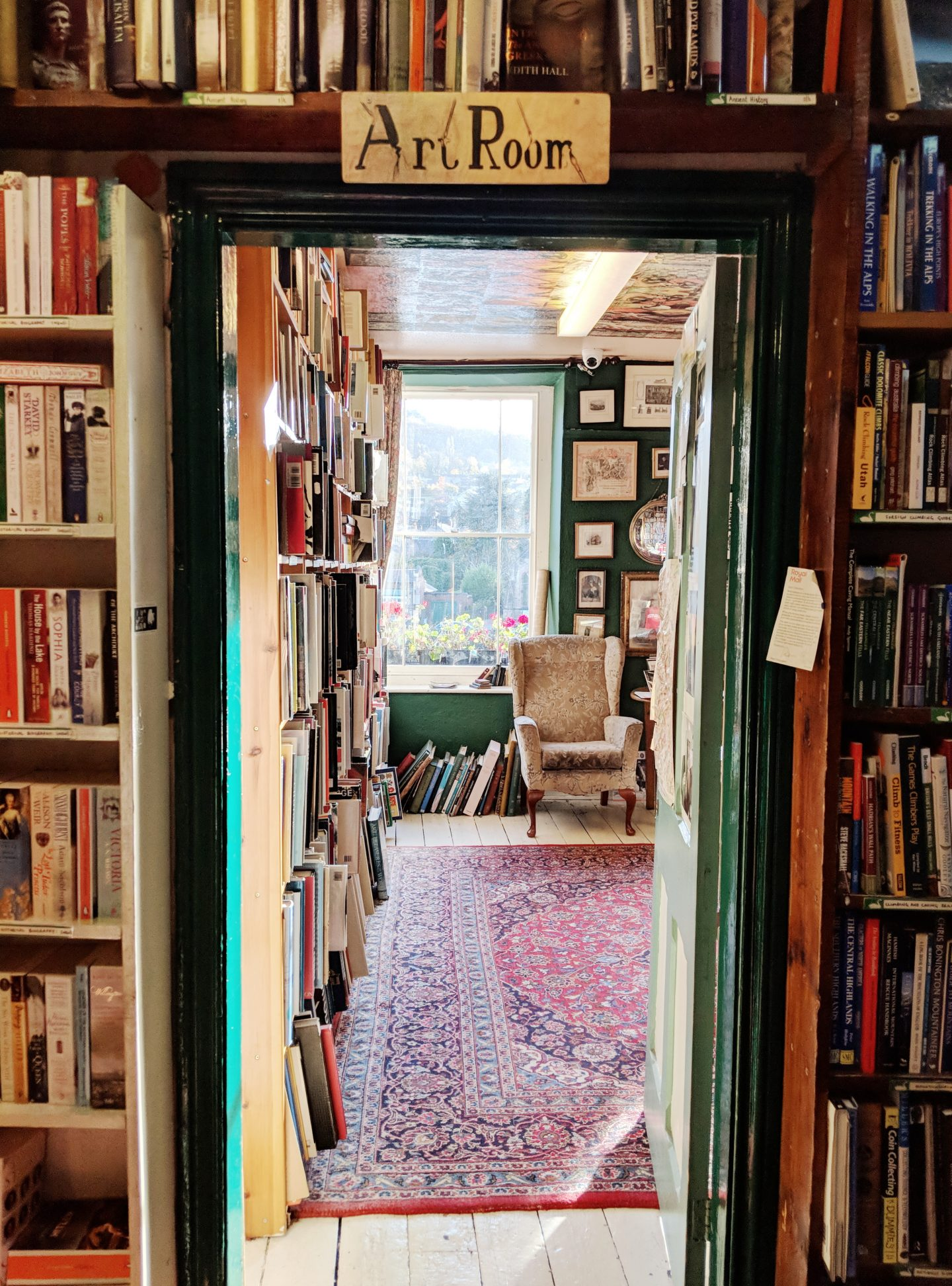 Scarthin Books Doorway