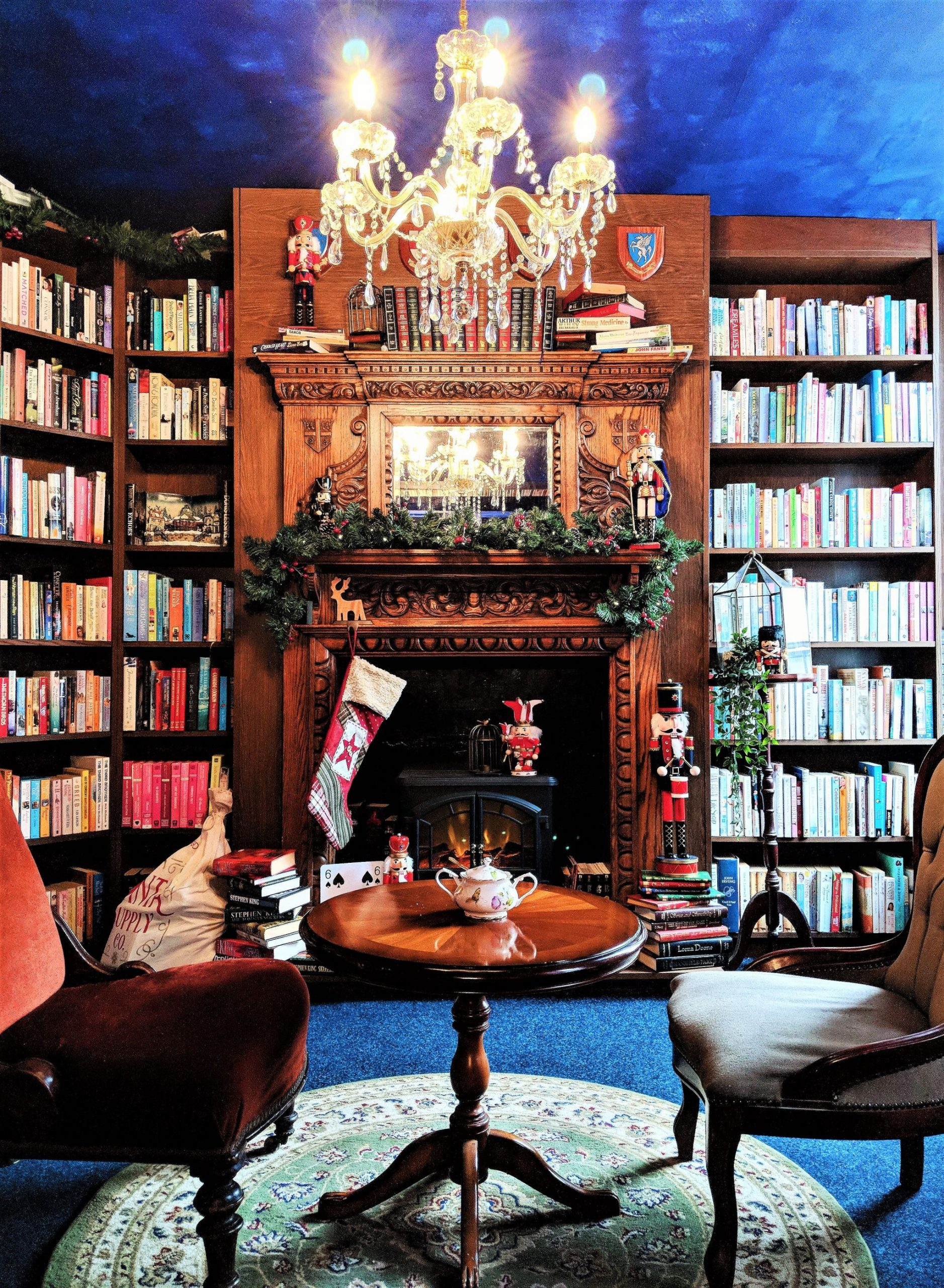 The Upstairs Fireplace Barrister's Book Chamber