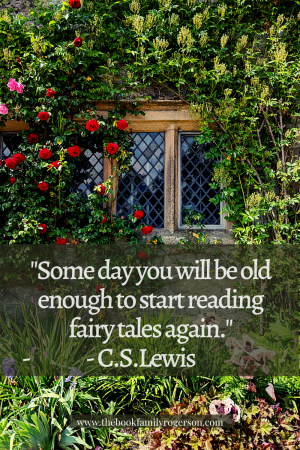 Fairytale window with CS Lewis quote