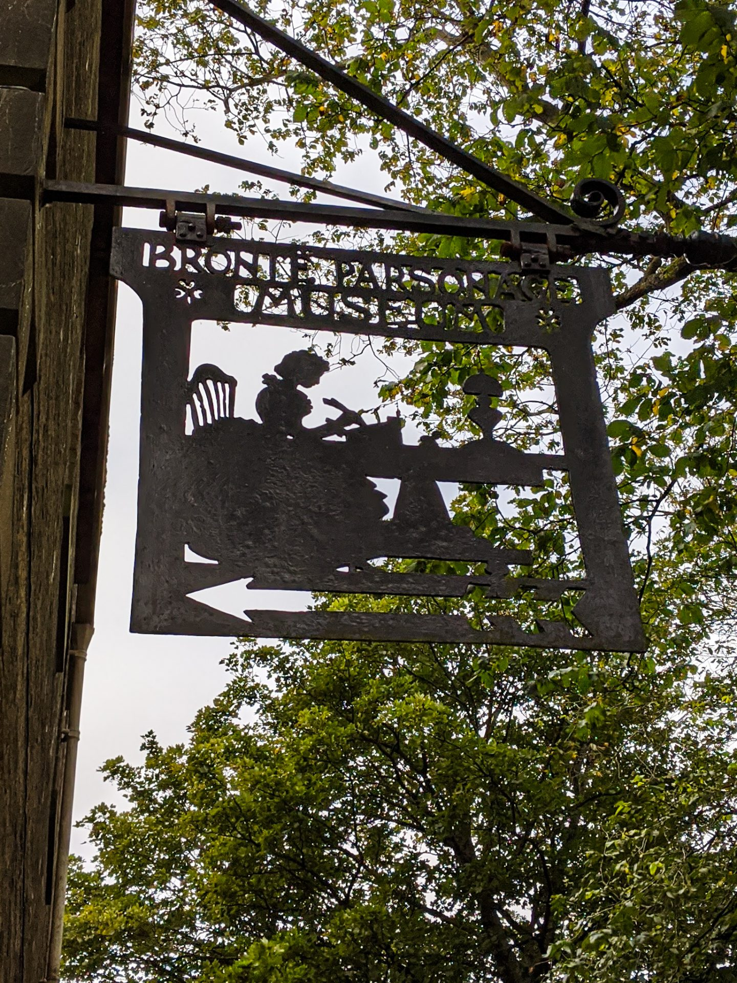 The sign outside the Brontë Parsonage Museum