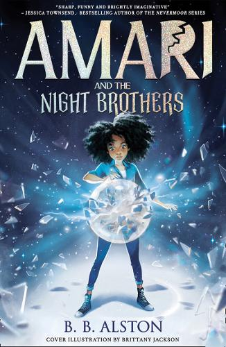 The cover of Amari and the Night Brothers by BB Alston hardback book,