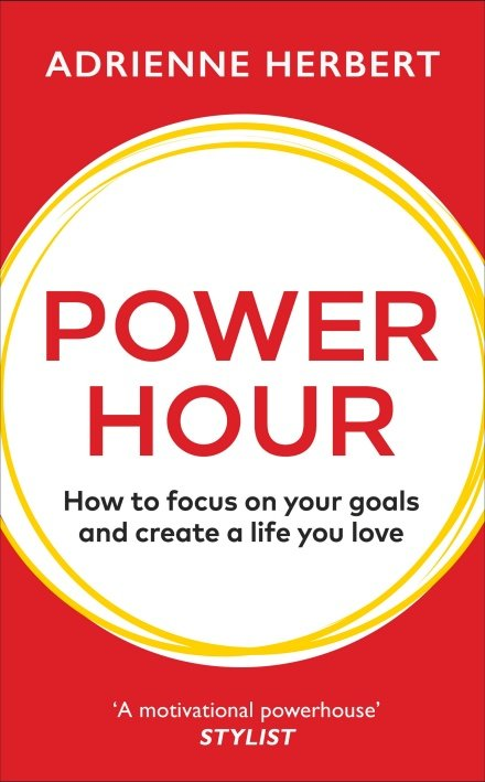 The cover of Power Hour by Adrienne Herbert to illustrate Audiobook Review - Power Hour by Adrienne Herbert.